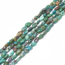 Natural Chrysocolla Beads Strands, Nuggets