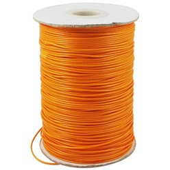 DarkOrange Korean Waxed Polyester Cord, Bead Cord, DarkOrange, 0.8mm; about 185yards/roll