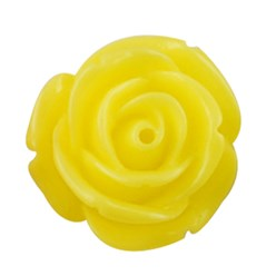 Yellow Resin Cabochon, Flower, Yellow, 15x6mm