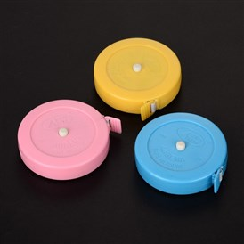 Tape Measures, Body Measuring Tape, for Sewing Tailor Fabric Measurements, with Plastic, 5.3x1.6cm; about 150cm/roll