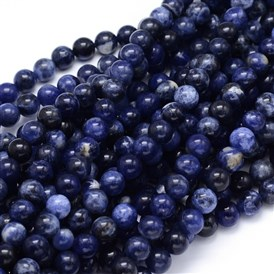 Round Natural Sodalite Beads Strands