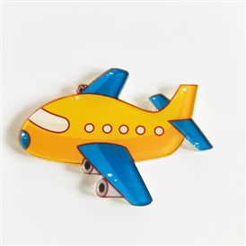 Acrylic Safety Airliner Brooches, with Iron Pin, Passenger Airplane