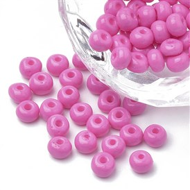6/0 Baking Paint Glass Seed Beads, Round