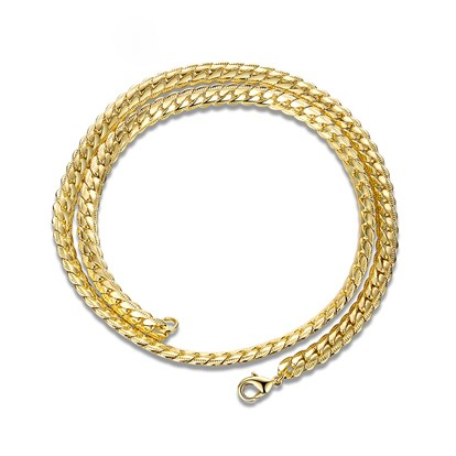 Brass Curb Chain Necklaces For Men-1