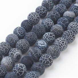 Weathered Agate Beads Strand, Grade A, Dyed, Round