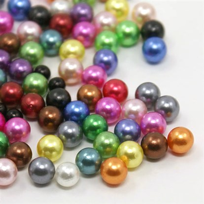 No Hole ABS Imitation Pearl Acrylic Round Beads, Dyed, 2mm; about 10000pcs/bag-1
