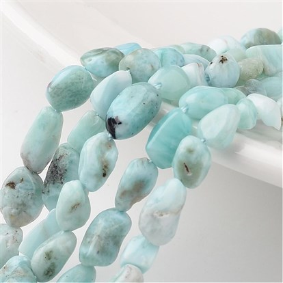 Natural Larimar Bead Strands, Chip, 6~12x5~8x4~6mm, Hole: 1mm; about 15.7""