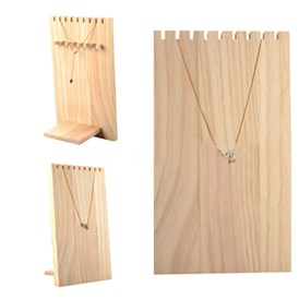Wooden Necklace Jewelry Necklace Holder, Long Chain Display Stand