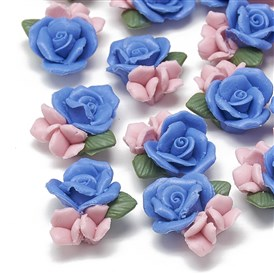 Handmade Porcelain Cabochons, China Clay Beads, Flower