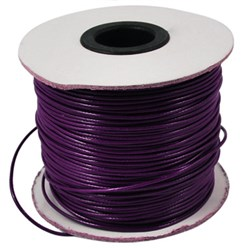 Purple Korean Waxed Polyester Cord, Bead Cord, Purple, 0.8mm; about 185yards/roll