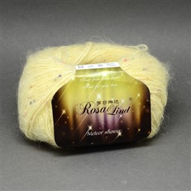 High Quality Hand Knitting Yarns, Meteor Shower Yarns, with Mohair,  Wool, Artificial Wool and Color Points, 1mm; about 25g/roll, 10rolls/bag