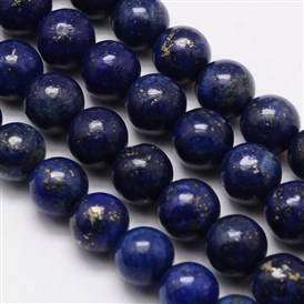 Grade A Natural Lapis Lazuli Round Bead Strands, Dyed, 8mm, Hole: 1mm; about 48pcs/strand, 15.1