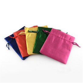Rectangle Cloth Bags, with Drawstring
