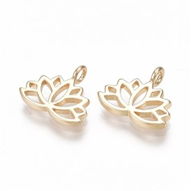 Brass Charms, Lotus Flower