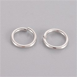Platinum Sterling Silver Jump Rings, Close but Unsoldered, Platinum, 5x0.8mm