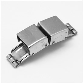 Rectangle 304 Stainless Steel Watch Band Clasps, 34x10x8mm, Hole: 3x9mm