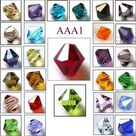 Imitation Austrian Crystal Beads, Grade AAA, Faceted, Bicone