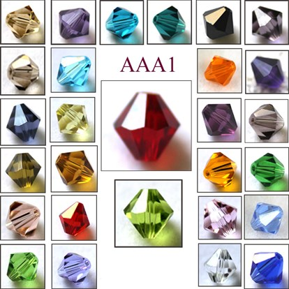 Imitation Austrian Crystal Beads, Grade AAA, Faceted, Bicone-1