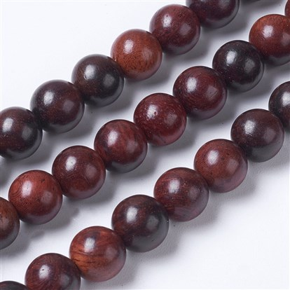 Natural Wood Beads Strands, Round-1