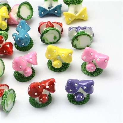 Resin Cabochons, Imitation Food, Mushroom-1