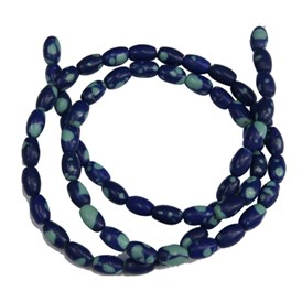 Gemstone Beads, Rice, Synthetic Chrysocolla, 4x6mm, Hole: 0.8mm