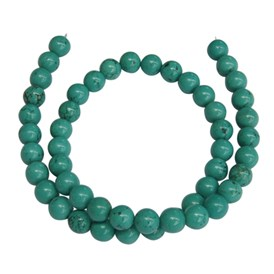 Natural Turquoise Bead, Dyed, Round, 8mm, Hole: 1.2mm