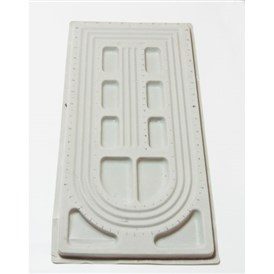 Plastic Bead Design Boards, Beads Trays, Rectangle, 27x49x2cm