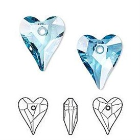 Austrian Crystal Peandants, Heart, 6240, 17x14mm
