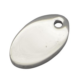 304 Stainless Steel Stamping Blank Tag Pendants, Oval, 7x13x1mm, Hole: 1mm