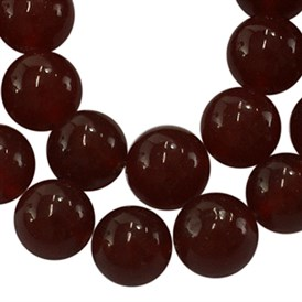 Gemstone Beads Strands, Natural Carnelian, Dyed, Round