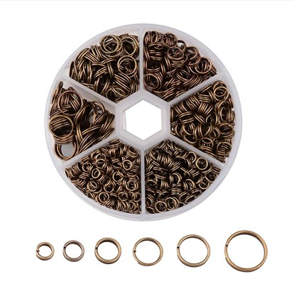 1 Box Iron Split Rings, 4mm/5mm/6mm/7mm/8mm/10mm