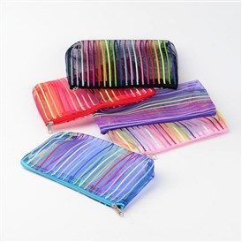 Mesh Multifunctional Zip Pouches, Cosmetic Bags, 18.5x11x0.8cm
