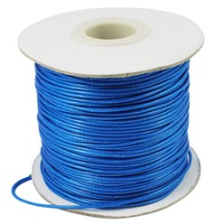 DodgerBlue Korean Waxed Polyester Cord, Bead Cord, DodgerBlue, 0.8mm; about 185yards/roll