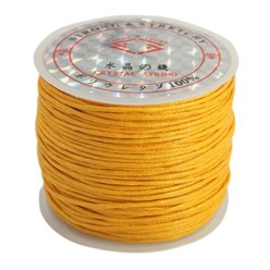 Orange Cotton Waxed Cord, Orange, 1mm; about 25m/roll