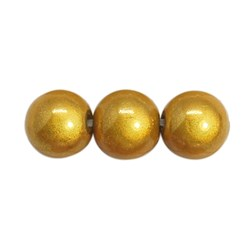 Goldenrod Spray Painted Miracle Acrylic Beads, Bead in Bead, Round, Goldenrod, 8mm, Hole: 1.8mm; about 1800pcs/500g