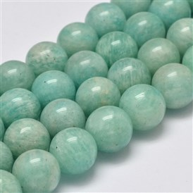 Grade AB Natural Amazonite Round Bead Strands