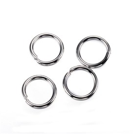 304 Stainless Steel Jump Rings, Close but Unsoldered Jump Rings