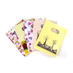Yellow Printed Plastic Bags, Rectangle, Yellow, 18x13cm