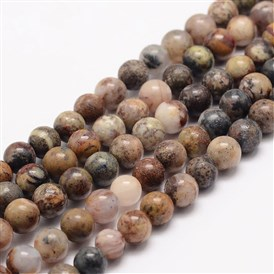 Natural Tiger Quartz Bead Strands, Round