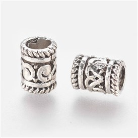 Alloy European Beads, Large Hole Beads, Column