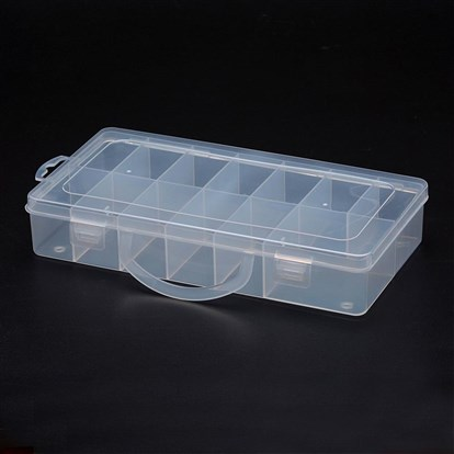 Polypropylene Plastic Bead Storage Containers, 13 Compartments, Rectangle-1