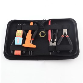 8pcs DIY Jewelry Tool Sets, with Pliers, Scissor, Tape Measure and Vernier Caliper, 155x115x35mm