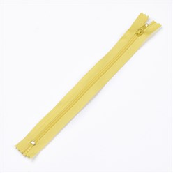 Yellow Garment Accessories, Nylon Closed-end Zipper, Zip-fastener Components, Yellow, 23.5~24x2.5cm