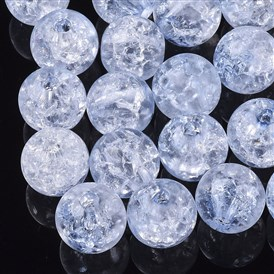 Transparent Crackle Acrylic Beads, Round