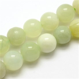 Natural New Jade Stone Round Bead Strands