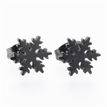 Wholesale 304 Stainless Steel Ear Studs Snowflake In Bulk