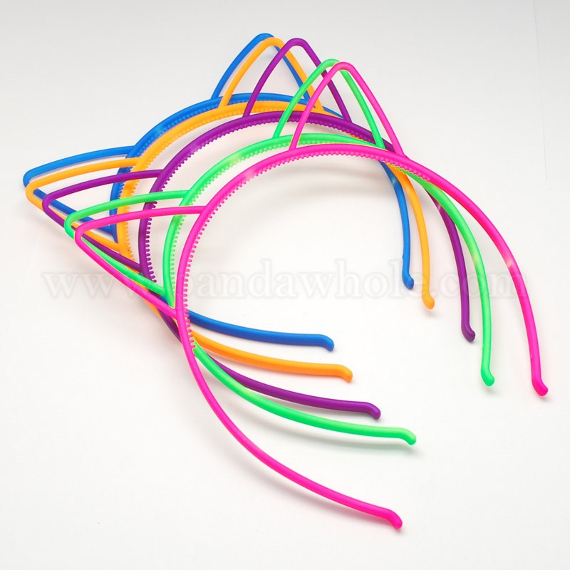 3ca7ef0c8e42 China Factory Plastic Neon Kids Hair Bands