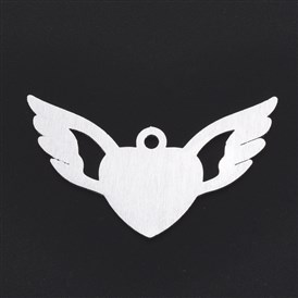Aluminium Big Pendants, Laser Cut Big Pendants, Heart with Wing