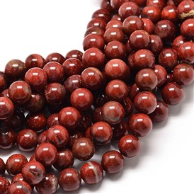 Natural Red Jasper Round Bead Strands