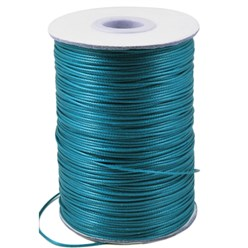 DarkCyan Korean Waxed Polyester Cord, Bead Cord, DarkCyan, 0.8mm; about 185yards/roll